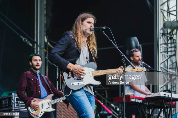Eric D. Johnson of Fruit Bats performs on the Mountain stage during day 4 at Green Man Festival at Brecon Beacons on August 20, 2017 in Brecon, Wales.