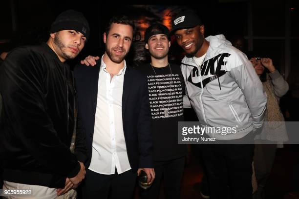 Eric Da Jeweler Ross Michaels Marco Foster and Saint Harraway attend Yebba's Birthday Party at Jimmy At The James Hotel on January 16 2018 in New...