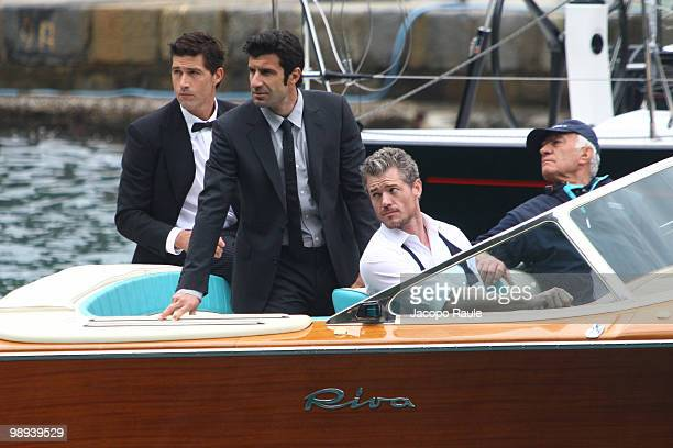 Eric Dane and Luis Figo and Matthew Fox are seen while filming for IWC on May 8 2010 in Portofino Italy