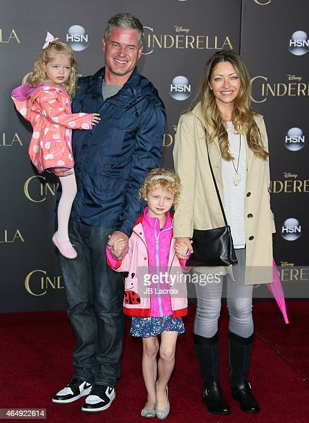 Eric Dane and Rebecca Gayheart attend the premiere of Disney's 'Cinderella' at the El Capitan Theatre on March 1, 2015 in Hollywood, California.