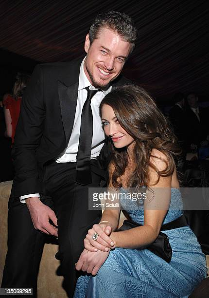 Eric Dane and Rebecca Gayheart during In Style and Warner Bros. 2007 Golden Globe After Party - Inside at Beverly Hilton Hotel in Beverly Hills,...