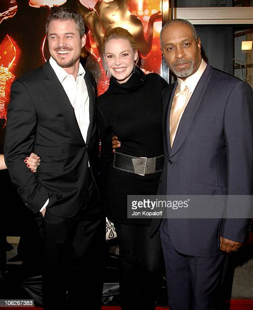 Eric Dane Katherine Heigl and James Pickens Jr during Dreamgirls Los Angeles Premiere Arrivals at Wilshire Theatre in Beverly Hills California United...