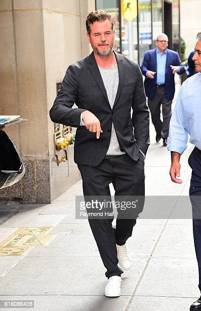 Eric Dane leaves ABC's 'Good Morning America' in Times Square on October 21 2016 in New York City