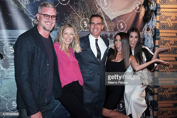 Eric Dane, Rebecca Gayheart Dane, Los Angeles Mayor Eric Garcetti, Seedling Co-Founder Soleil Moon Frye and Demi Moore at the Seedling launch party...