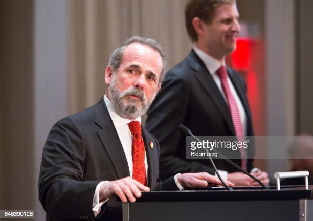 Eric Danziger chief executive officer of Trump Organization Inc speaks during the grand opening ceremony of Trump International Hotel Tower in...