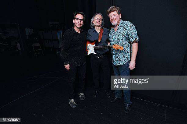 Eric Darken Sonny Landreth and Mac McAnally at the benefit concert for GRAMMY Museum Mississippi on March 5 2016 in Cleveland Mississippi