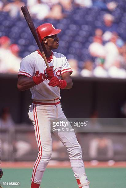 CINCINNATI OH Eric Davis of the Cincinnati Reds circa 1989 bats at Riverfront Stadium in Cincinnati Ohio