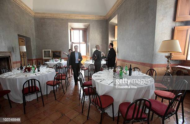 Eric de Chassey director of the French Academy attends a lunch for the 'JeanAugusteDominique Ingres And Ellsworth Kelly' exhition preview at Villa...