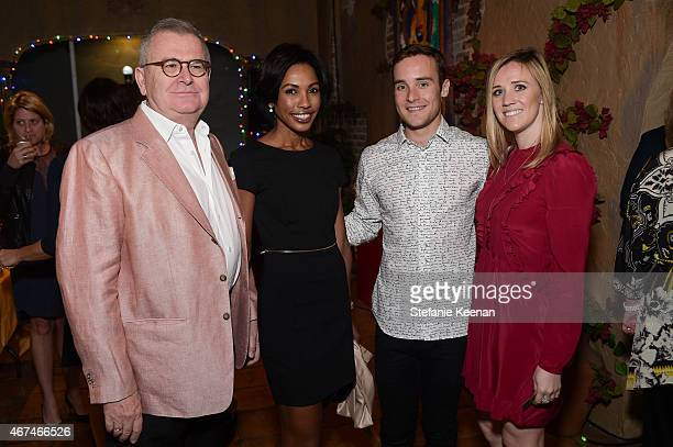 Eric de Lavandeyra Raquel de Lavandeyra Charlie Pohald and Kendall Krummenacher attend The LAXART UNGALA Presented By Phillips on March 24 2015 in...