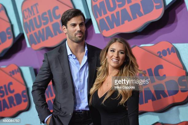 Eric Decker and Jessie James attend the 2014 CMT Music awards at the Bridgestone Arena on June 4 2014 in Nashville Tennessee