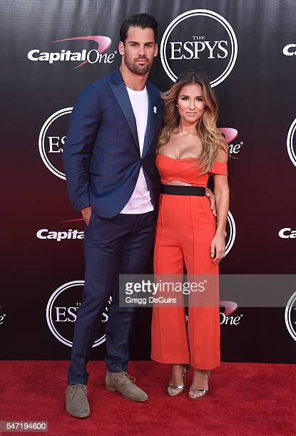 Eric Decker and Jessie James Decker arrive at The 2016 ESPYS at Microsoft Theater on July 13 2016 in Los Angeles California