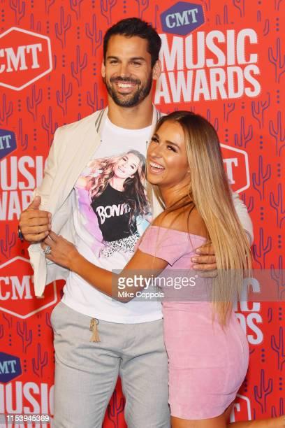 Eric Decker and Jessie James Decker attend the 2019 CMT Music Award at Bridgestone Arena on June 05, 2019 in Nashville, Tennessee.