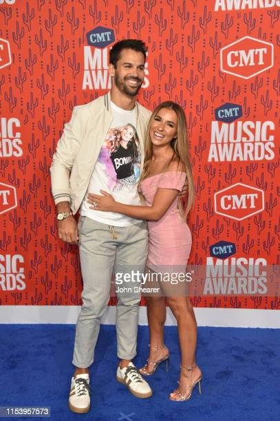 Eric Decker and Jessie James Decker attend the 2019 CMT Music Awards at Bridgestone Arena on June 05 2019 in Nashville Tennessee