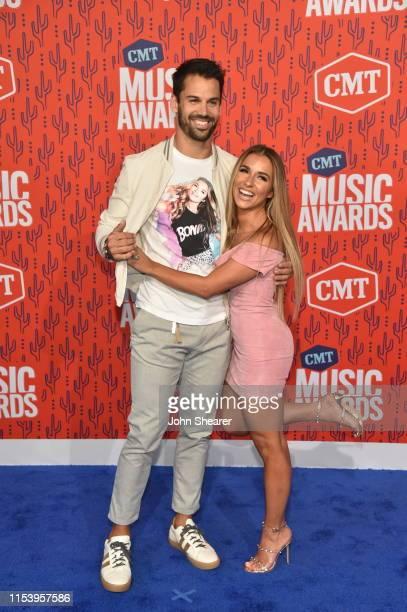 Eric Decker and Jessie James Decker attend the 2019 CMT Music Awards at Bridgestone Arena on June 05, 2019 in Nashville, Tennessee.