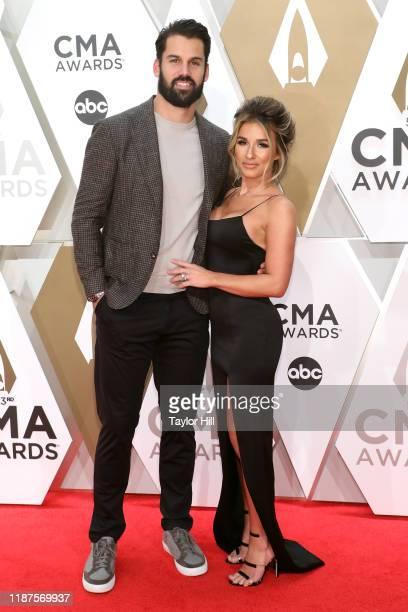 Eric Decker and Jessie James Decker attend the 53nd annual CMA Awards at Bridgestone Arena on November 13, 2019 in Nashville, Tennessee.