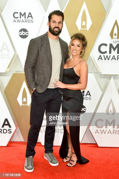 Eric Decker and Jessie James Decker attend the 53rd annual CMA Awards at the Music City Center on November 13 2019 in Nashville Tennessee