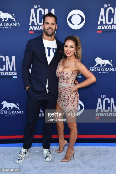 Eric Decker and Jessie James Decker attend the 54th Academy Of Country Music Awards at MGM Grand Hotel Casino on April 07 2019 in Las Vegas Nevada