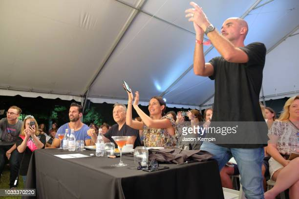 Eric Decker Paul Reiser Lily Aldridge and Zane Lowe attend the Music City Food Wine Festival's Friday Night Throwdown at Bicentennial Capitol Mall...