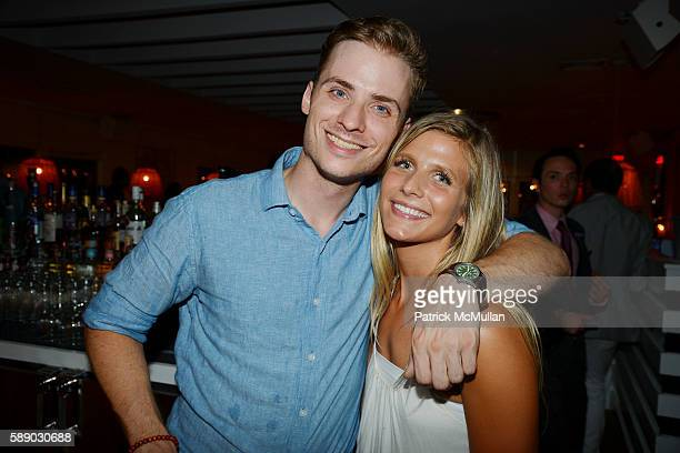 Eric Delanoy and Allison Tyler attend Oreya Salutes Julian Niccolini of The Four Seasons Restaurant at OREYA Hamptons on August 11 2016 in...