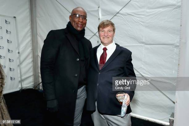 Eric Dickerson and Leigh Steinberg attend Leigh Steinberg Super Bowl Party 2018 on February 3 2018 in Minneapolis Minnesota
