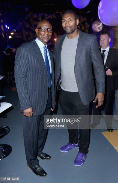 Eric Dickerson and Metta World Peace attend the 70th Anniversary of Israel celebration in Los Angeles on Sunday June 10 2018