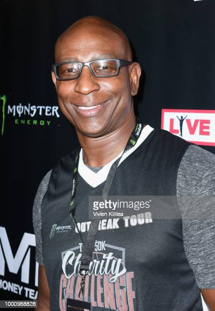 Eric Dickerson attends 50K Charity Challenge Celebrity Basketball Game at UCLA's Pauley Pavilion on July 17 2018 in Westwood California