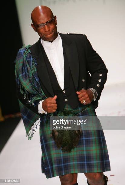 Eric Dickerson during Johnnie Walker Presents Dressed to Kilt Runway Show at Smashbox Studios in Los Angeles California United States
