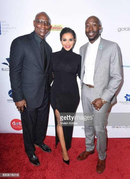 Eric Dickerson Erica Dickerson and Freddie Gibbs attend the 17th Annual Harold Carole Pump Foundation Gala at The Beverly Hilton Hotel on August 11...
