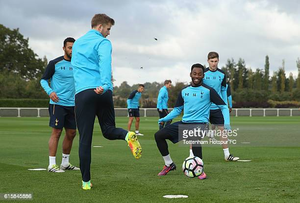 Eric Dier and Georges-Kévin N'Koudou of Tottenham during the Tottenham Hotspur training session at Tottenham Hotspur Training Centre on October 20,...