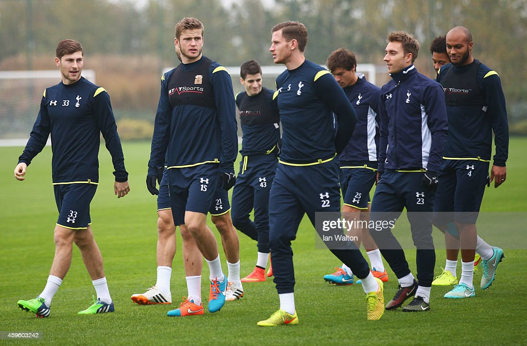 Tottenham Hotspur FC Training and Press Conference : News Photo