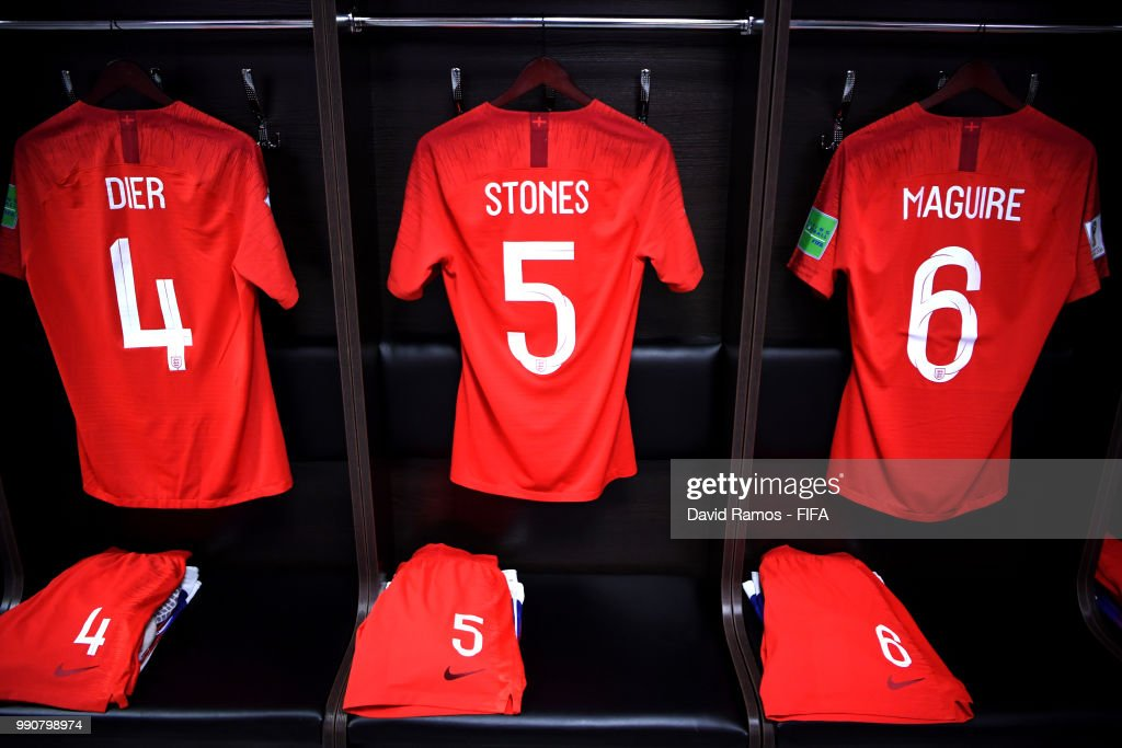 competitive price a47a8 6d284 Eric Dier, John Stones and Harry Maguire's shirts hang ...