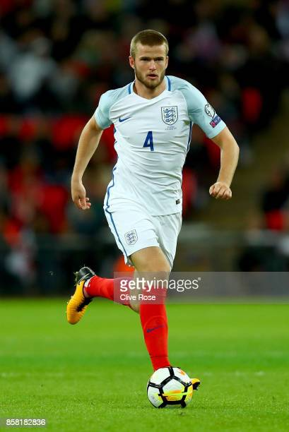 Eric Dier of England in action during the FIFA 2018 World Cup Group F Qualifier between England and Slovenia at Wembley Stadium on October 5, 2017 in...