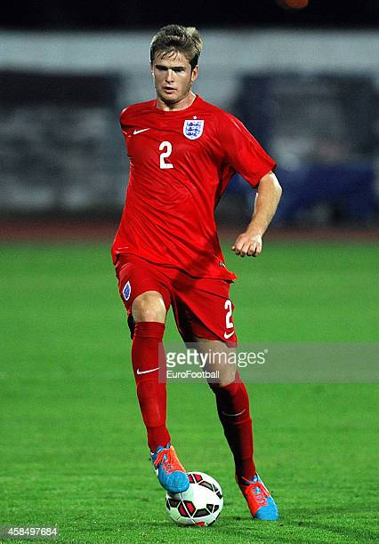 Eric Dier of England in action during the UEFA U21 Championship Playoff Second Leg match between Croatia and England at the Stadion Hnk Cibalia on...