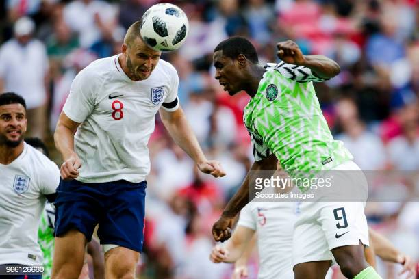 Eric Dier of England Odion Ighalo of Nigeria during the International Friendly match between England v Nigeria at the Wembley Stadium on June 2 2018...