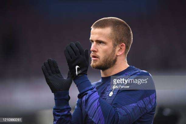Eric Dier of Tottenham Hotspur applaud fans during his warm up prior to the Premier League match between Burnley FC and Tottenham Hotspur at Turf...