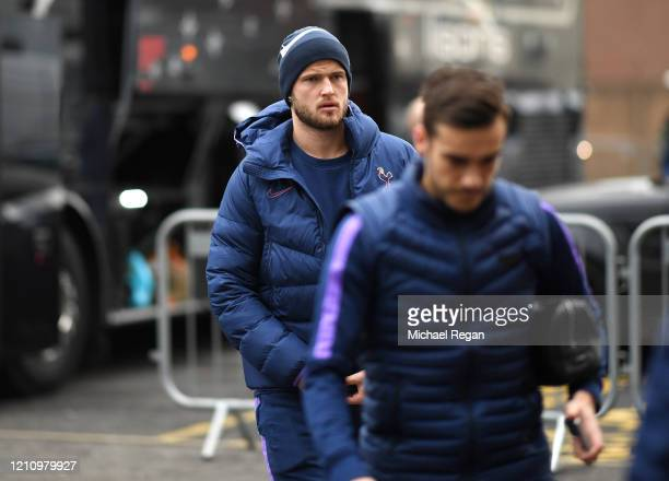 Eric Dier of Tottenham Hotspur arrives at the stadium prior to during the Premier League match between Burnley FC and Tottenham Hotspur at Turf Moor...
