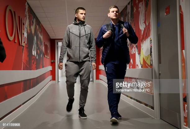 Eric Dier of Tottenham Hotspur arrives at the stadium prior to the Premier League match between Liverpool and Tottenham Hotspur at Anfield on...