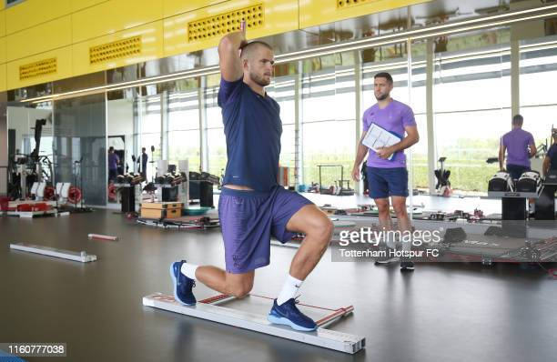 Eric Dier of Tottenham Hotspur during a pre-season gym session at Tottenham Hotspur Training Centre on July 08, 2019 in Enfield, England.