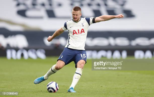 Eric Dier of Tottenham Hotspur during the Premier League match between Tottenham Hotspur and Manchester United at Tottenham Hotspur Stadium on April...