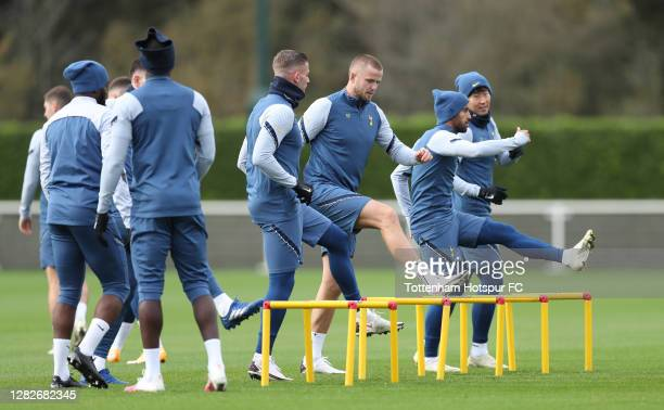 Eric Dier of Tottenham Hotspur during the Tottenham Hotspur training session ahead of the UEFA Europa League Group J stage match between Tottenham...