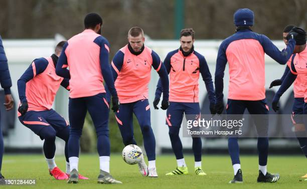 Eric Dier of Tottenham Hotspur during the Tottenham Hotspur training session at Tottenham Hotspur Training Centre on February 09, 2021 in Enfield,...