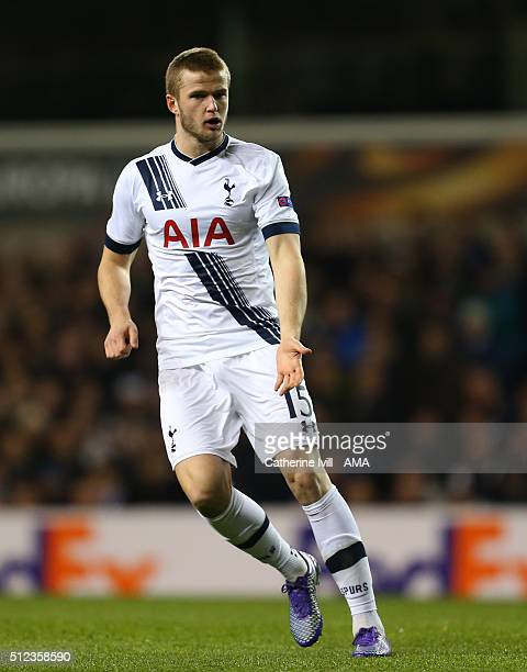 Eric Dier of Tottenham Hotspur during the UEFA Europa League match between Tottenham Hotspur and Fiorentina at White Hart Lane on February 25 2016 in...