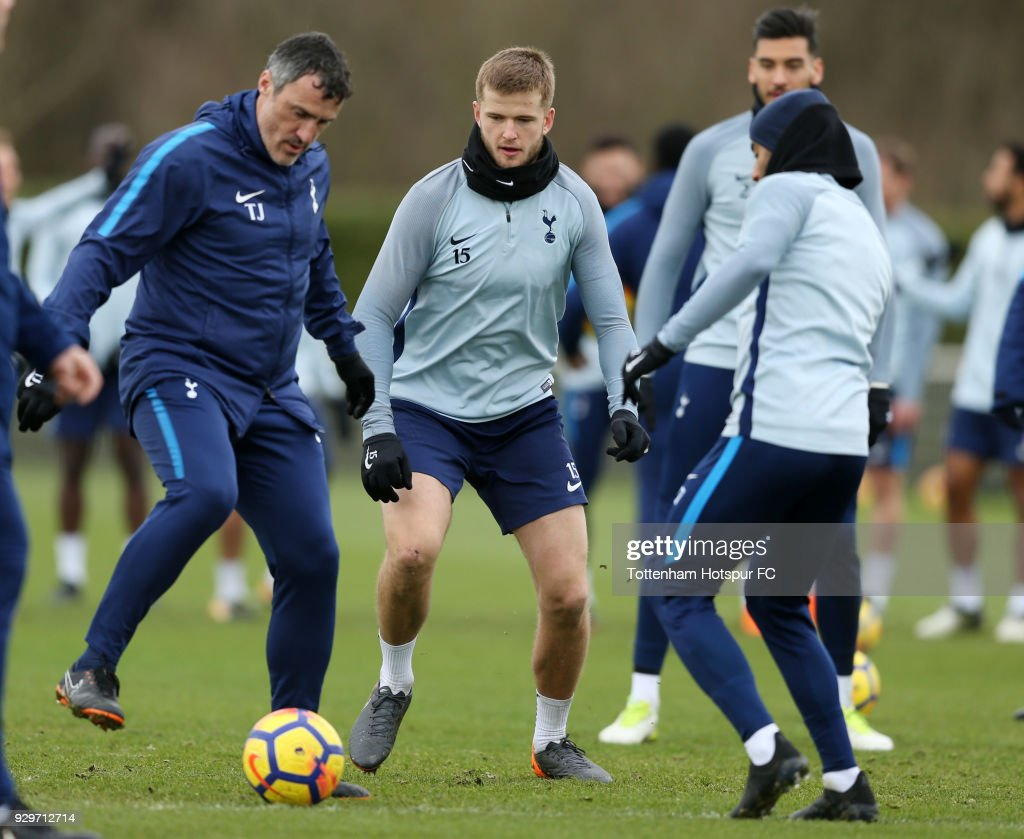 Eric Dier of Tottenham Hotspur during training on March 9, 2018 in Enfield, England.