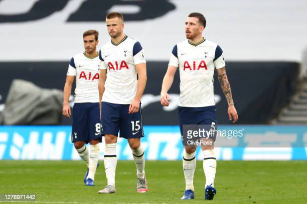 Eric Dier of Tottenham Hotspur looks dejected following the Premier League match between Tottenham Hotspur and Newcastle United at Tottenham Hotspur...