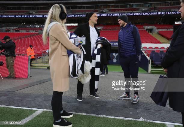 e8fc74b11 Eric Dier of Tottenham Hotspur meets Zach Ertz of NFL team Philadelphia  Eagles and Julie Ertz