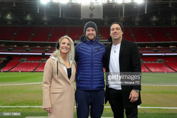 df2e4b8b8 Eric Dier of Tottenham Hotspur poses with Philadelphia Eagles player Zach  Ertz and his wife USA
