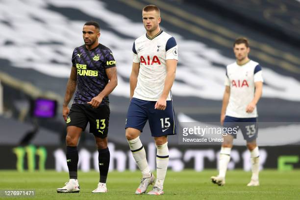 Eric Dier of Tottenham Hotspur reacts following the Premier League match between Tottenham Hotspur and Newcastle United at Tottenham Hotspur Stadium...