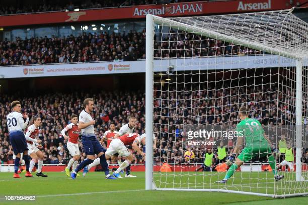 Eric Dier of Tottenham Hotspur scores a goal to make it 11 during the Premier League match between Arsenal FC and Tottenham Hotspur at Emirates...