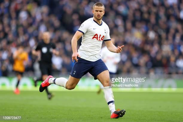 Eric Dier of Tottenham in action during the Premier League match between Tottenham Hotspur and Wolverhampton Wanderers at Tottenham Hotspur Stadium...