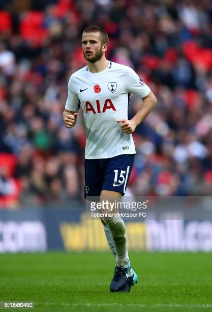 Eric Dier of Tottenham in action during the Premier League match between Tottenham Hotspur and Crystal Palace at Wembley Stadium on November 5 2017...